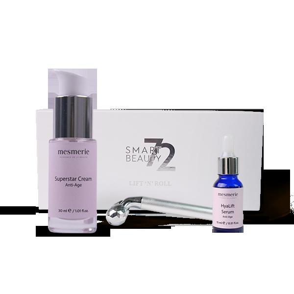 ANTI-AGE SET PROTIV STARENJA ZA HIDRATACIJU (serum, krema, masažer)