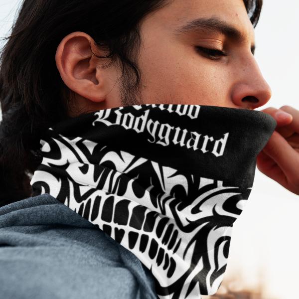 Tattoo Bodyguard - šal & maska (crno-bela)