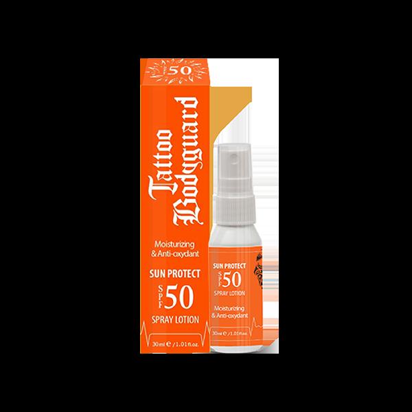 Tattoo Bodyguard SUN PROTECT SPF 50 sprej losion za zaštitu tetovaža od sunca i gubitka boje 30ml
